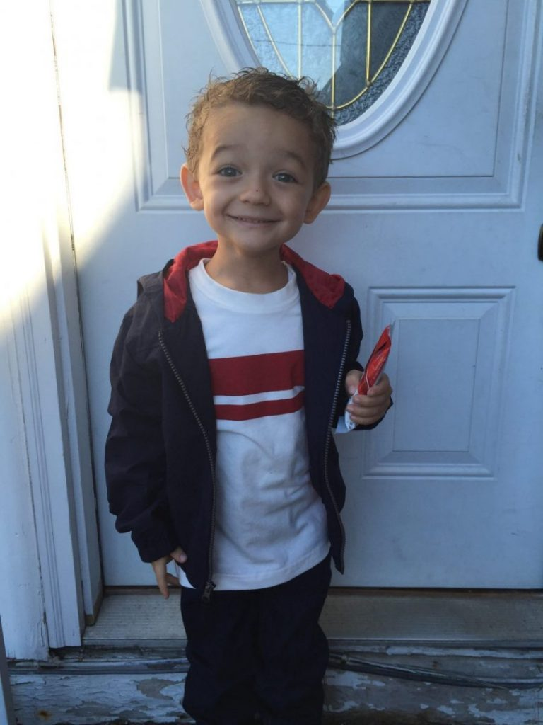 A's First Day of Preschool