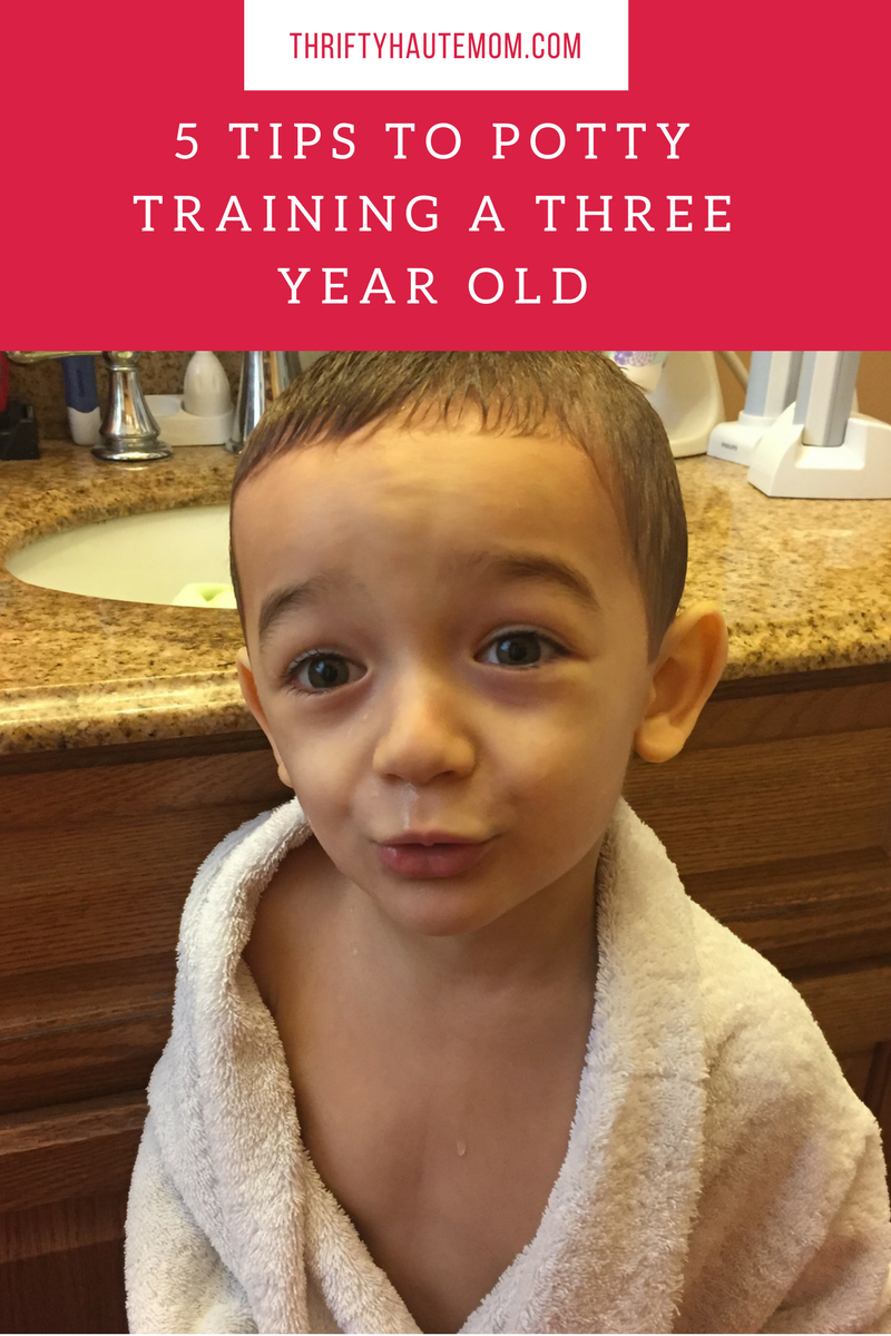 5 Potty Training Tips For a Three Year Old