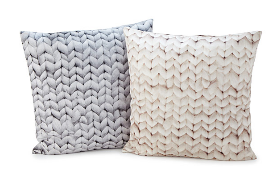Chunky Knit Printed Pillow