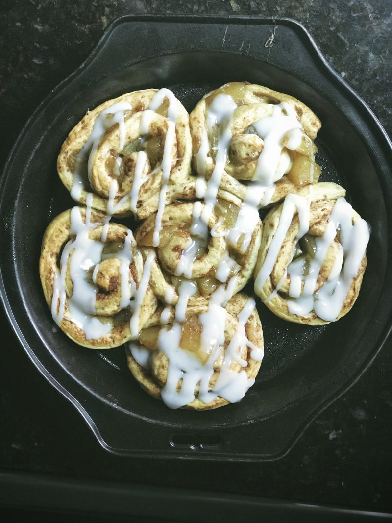 Delicious Apple Pie Cinnamon Rolls