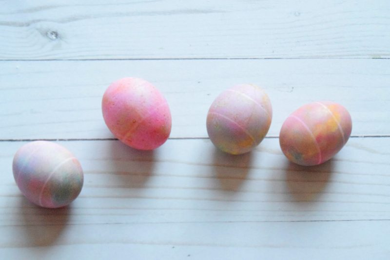 Egg Dyed Easter Egg Flat Lay