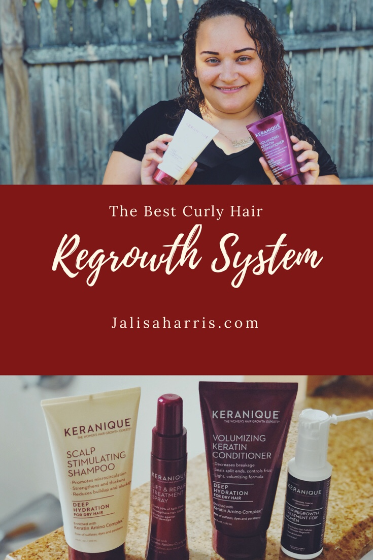 Curly hair regrowth system pin