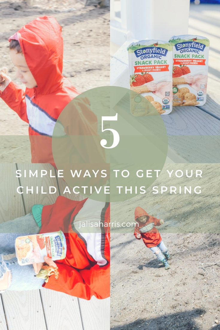 5 ways to get your child active this Spring Pin