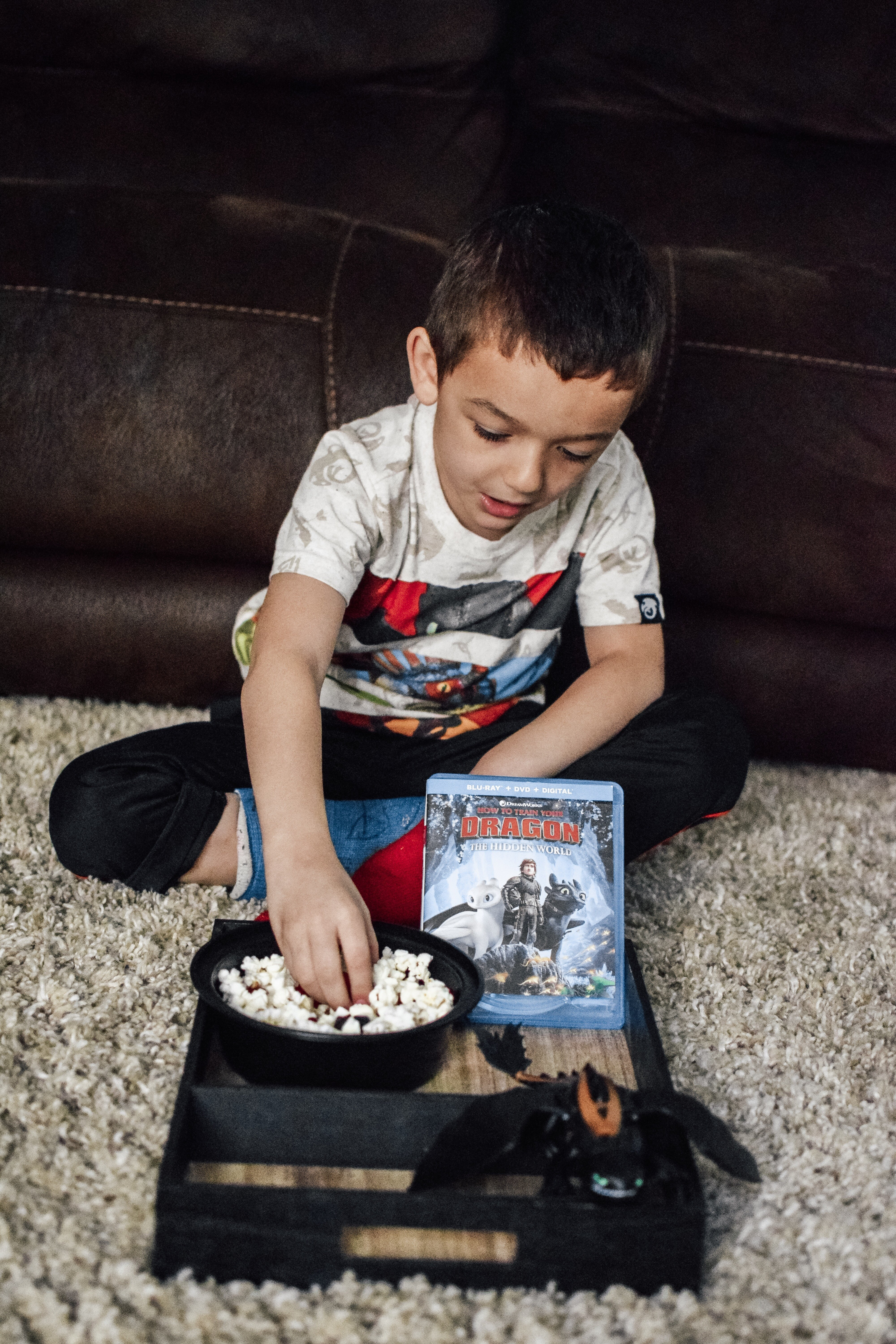 Simple movie caddy for kids