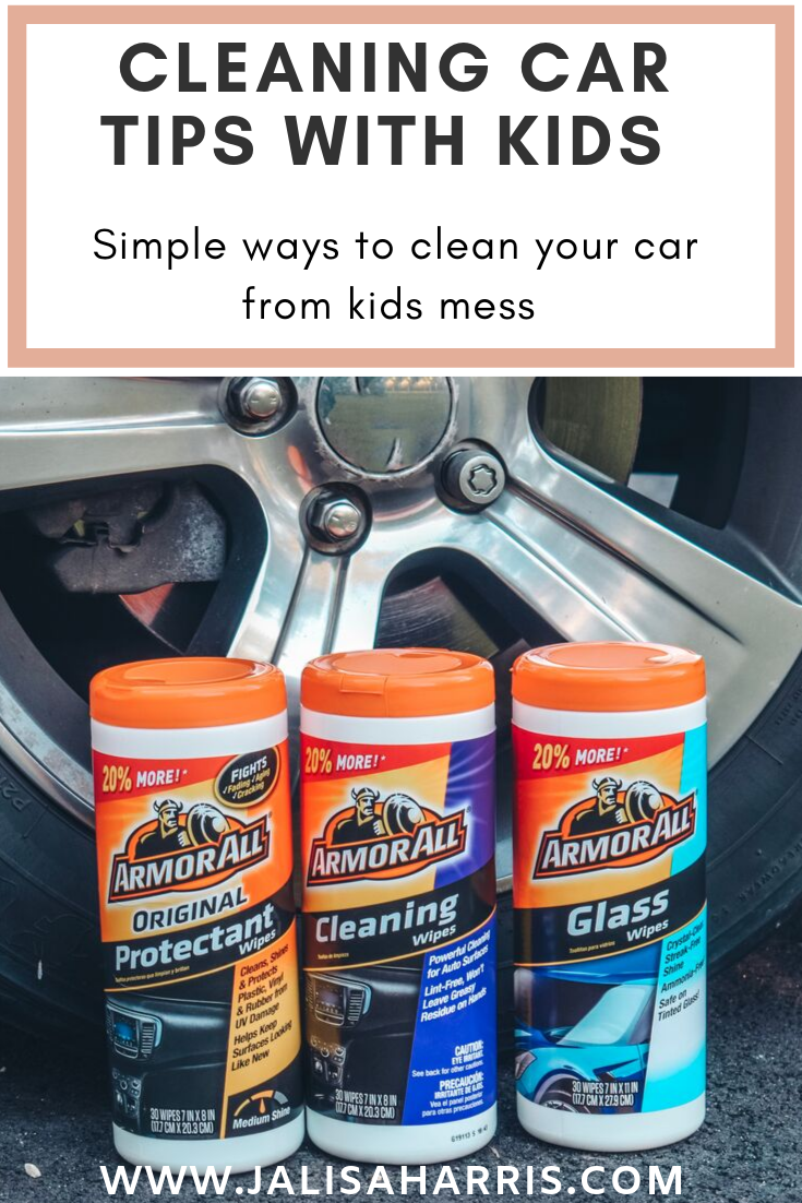 My least favorite thing to do is cleaning my car. Now that I have a child things can get messy so quick. That's why these keeping your car clean with kids tips are so important. Plus we love using Armor All for all our cleaning needs.