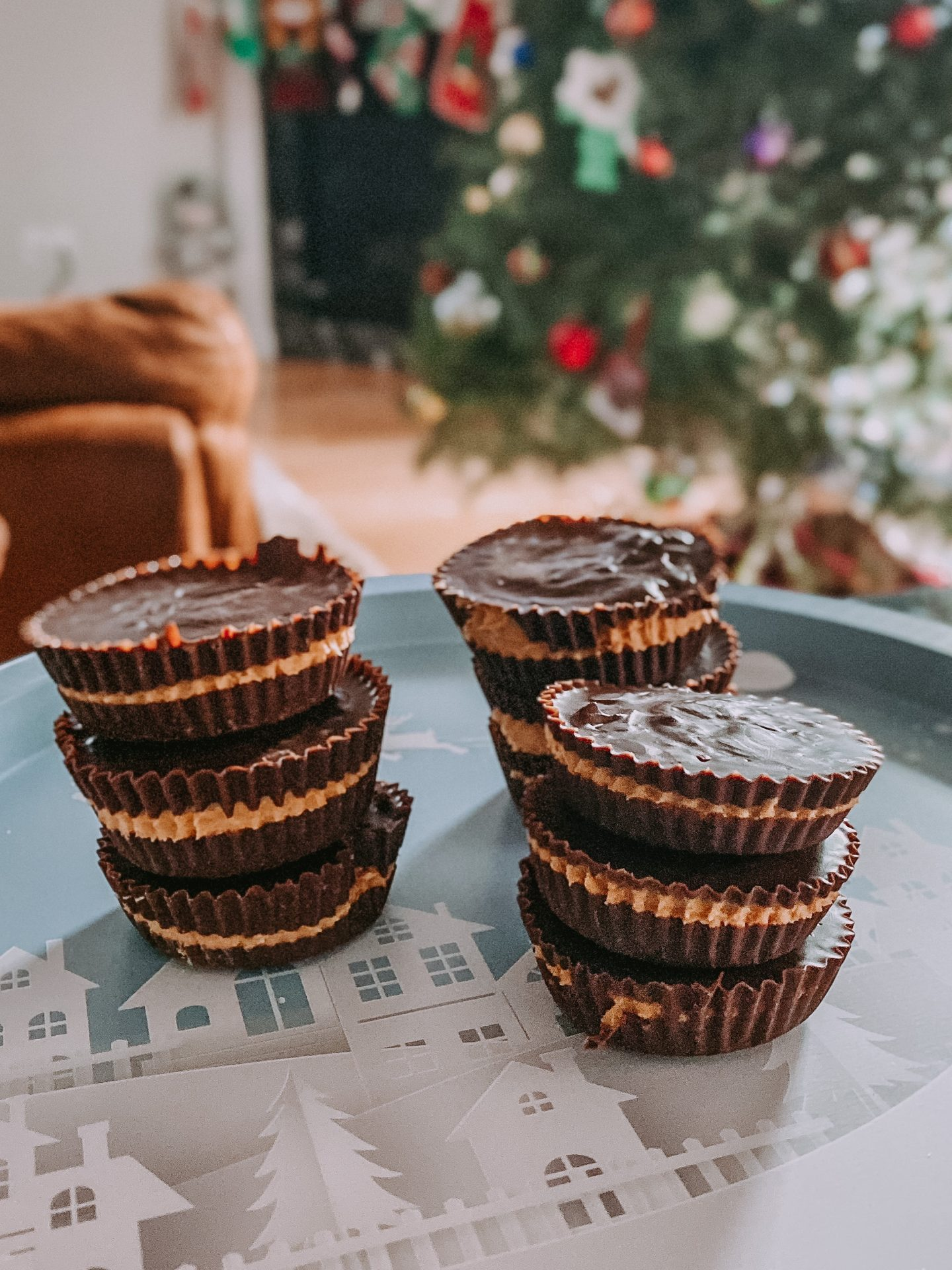 No Bake Holiday Peanut Butter Cups