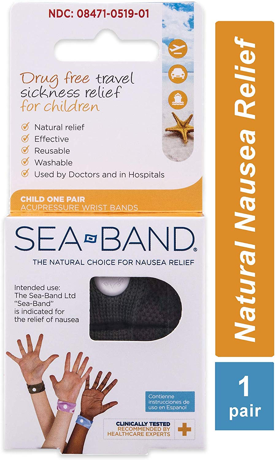 Seabands for morning sickness relief