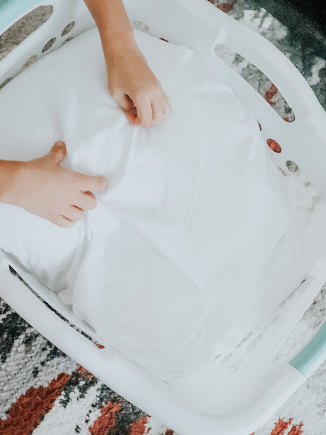 Love good smelling clean laundry. Gain with Essential Oils is our #1 laundry hack to a week of clean laundry
