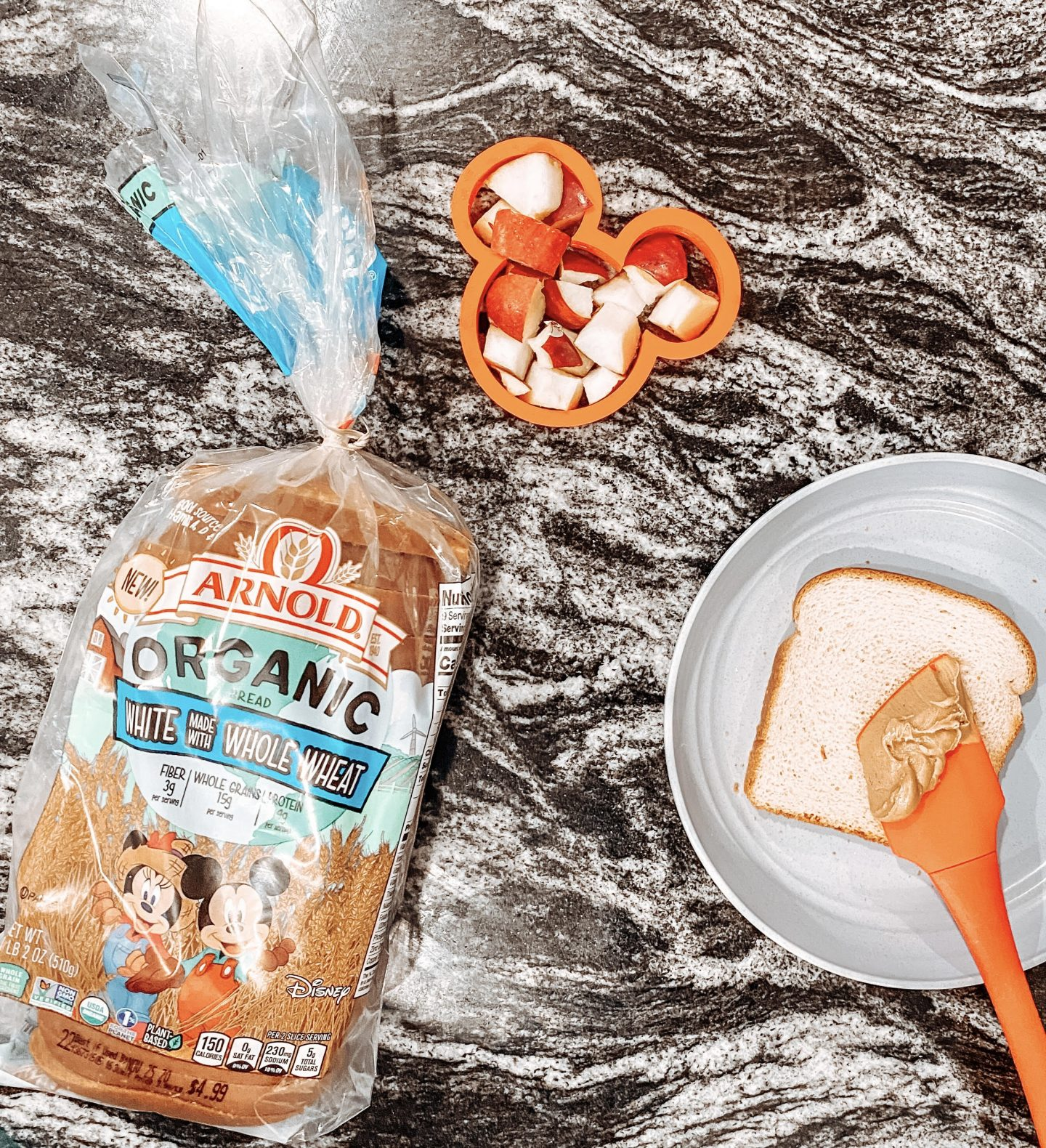 Almond Butter & Jelly sandwiches for kids